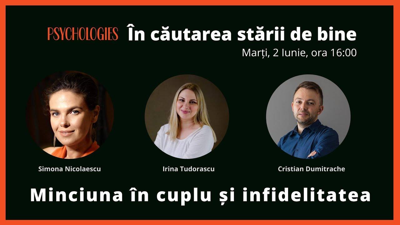 """Minciuna în cuplu și infidelitatea - """"În căutarea stării de bine"""" cu Simona Nicolaescu"""