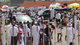 Akufo-Addo, Bawumia, others arrive at Accra Sport Stadium for thanksgiving service