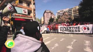 Today we had the grand final of our #overthefortress action in Thessaloniki (Greece). Our friends from Meltingpot.org started a massive protest of 250 activists in front of the regional government before marching through central Thessaloniki, joined by locals, refugees and tourists alike speaking up against Europe