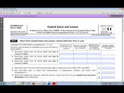 2011 Trader Tax Filing with TradeLog