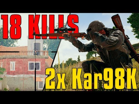 18 Kill Solo with 2x Kar98k! | PUBG