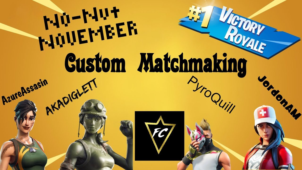 Custom Matches and No Nut November | Fortnite Nintendo Switch