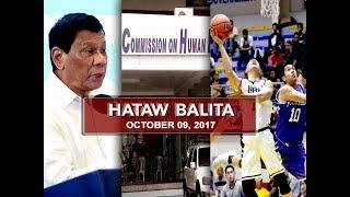 UNTV: Hataw Balita (October 9, 2017)