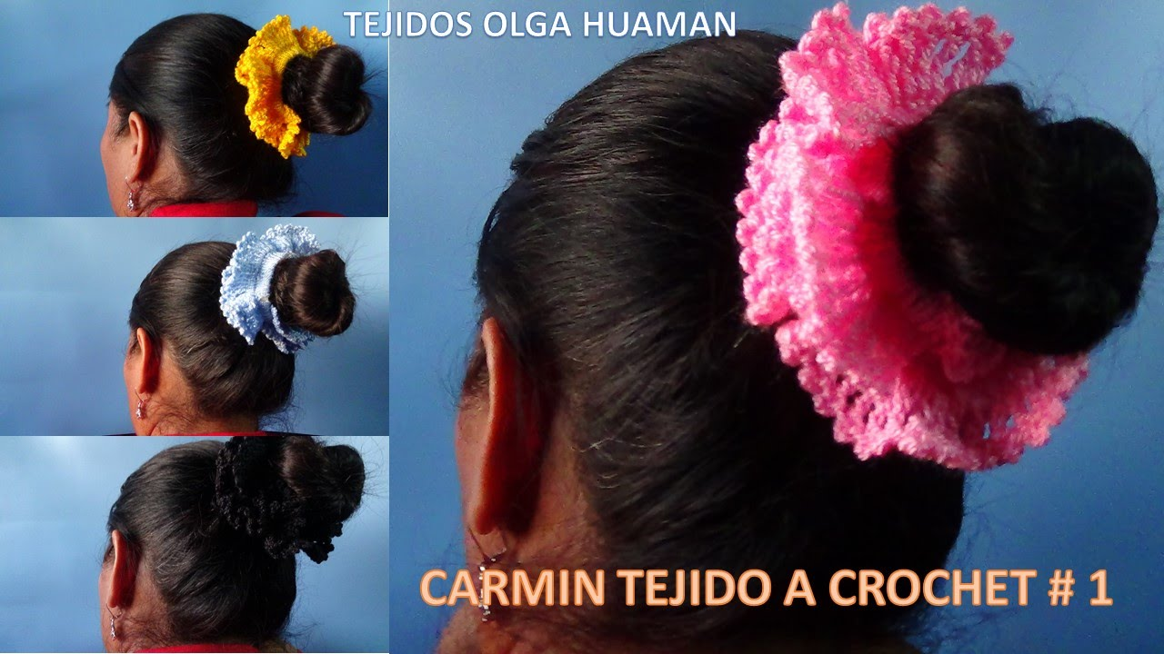 Adornos para el cabello tejidos a crochet