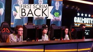 OUR FIRST SCRIM BACK!! (OpTic Gaming vs Cloud9)