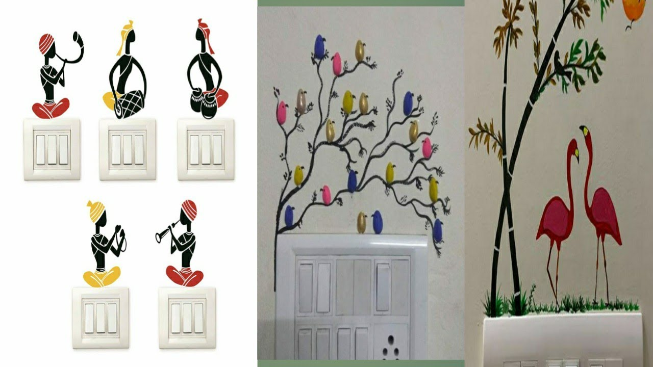 Switchboard Art Creative Switchboard Design Painting Ideas In Telugu