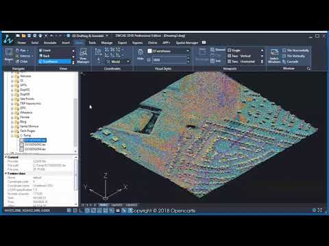 Importing LiDAR data  (ZWCAD) -  Spatial Manager Blog