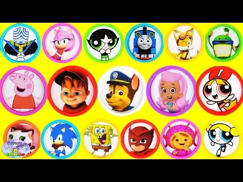 Learn Colors Disney Nick Jr Powerpuff Girls Sonic Boom Episode Surprise Egg and Toy Collector SETC