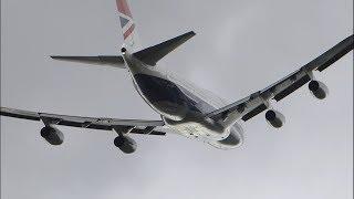 British Airways 747-436 G-CIVB Negus Retro Livery Takeoff from Runway 09R, LHR 29/10/2019