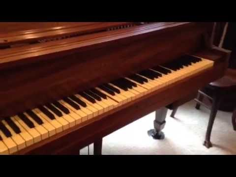 """""""Happy Days Are Here Again"""" On Baby Grand Fitted With Vintage PIANOCORDER Player Piano System"""