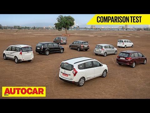 Lodgy VS Mobilio VS Innova VS Ertiga VS Xylo VS Aria VS Evalia VS Enjoy | Autocar India