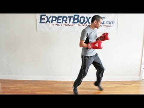 """Boxing Bounce Footwork - the """"pendulum"""" step"""