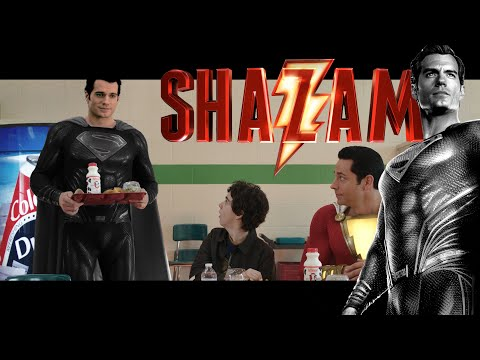 Henry Cavill as BLACK SUIT Superman in Shazam Ending Cameo | Zack Snyder's Justice League Canon! ????
