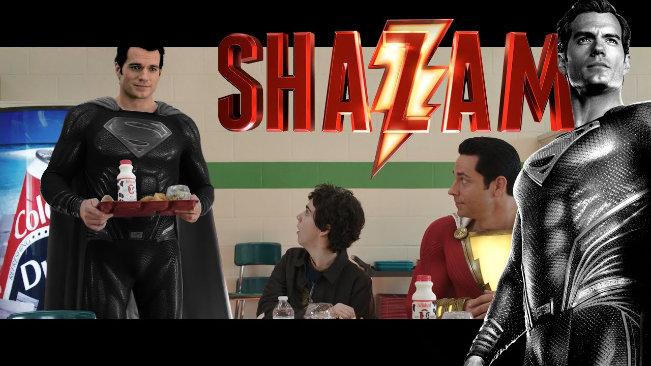 Download Henry Cavill as BLACK SUIT Superman in Shazam Ending Cameo | Zack Snyder's Justice League Canon! 😱