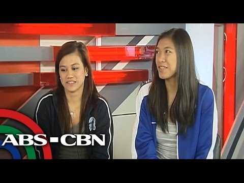 Adamson's Pineda and Ateneo's Valdez share their experiences on and off the court