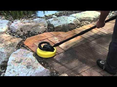 Houten terras onderhouden met k rcher youtube - Terras hout ...