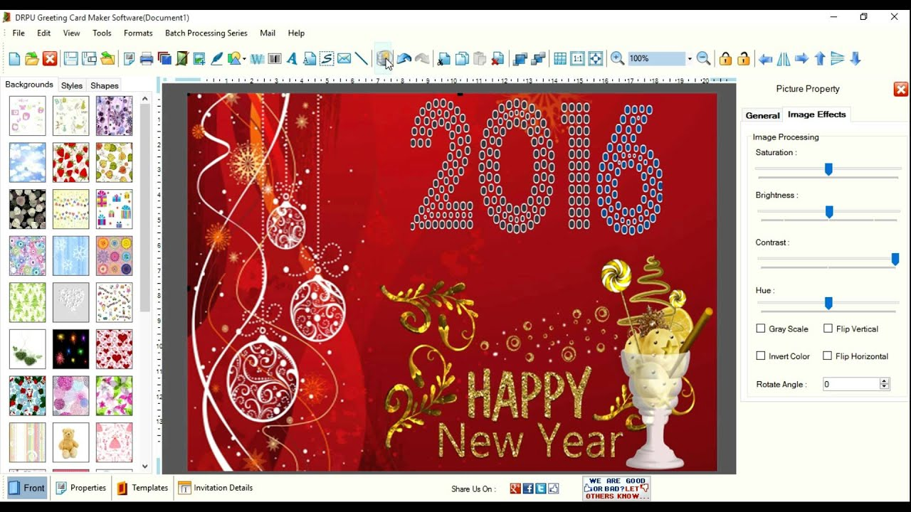 How To Design Greeting Cards Using DRPU Card Maker Application