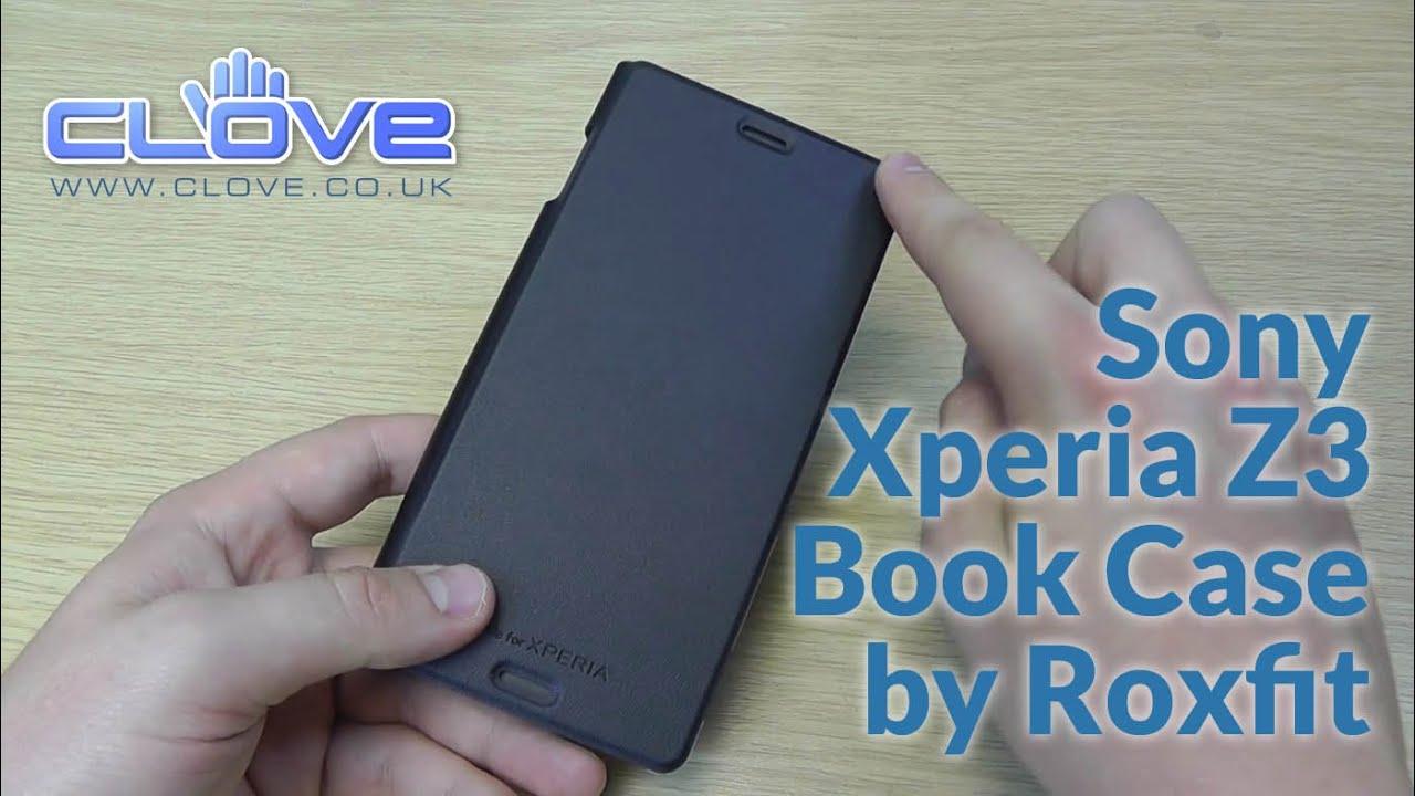 roxfit xz3  Sony Xperia Z3 Book Case by Roxfit Hands On - YouTube
