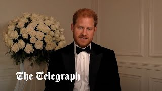 video: Prince Harry blames 'those who peddle in lies and fear' for creating vaccine hesitancy