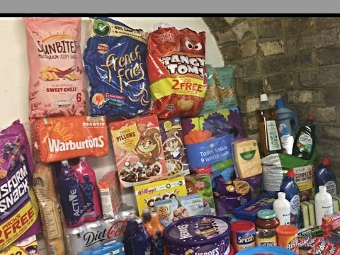 Large family tesco shopping haul , how much did we spend ?