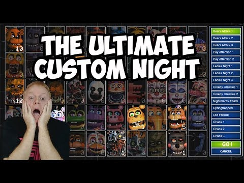 FNAF THE ULTIMATE CUSTOM NIGHT LIVESTREAM | LET'S PLAY, DISCOVER AND SURVIVE!!