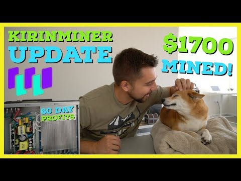 $6000 Crypto Miner Earned $1700 In 60 Days Or 0.17 Bitcoin | Kirinminer 2 Month Update Review
