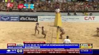 Tim Voli Pantai Putri Indonesia Dikalahkan Kazakhstan