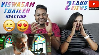 Viswasam Trailer Reaction | Malaysian Indian Couple | Ajith Kumar | Nayanthara | Sathya Jyothi Films