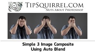 Simple 3 Image Composite using Photoshop Auto Blend