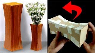 How to make Flower Vase with cardboard | DIY Vase | DIY Cardboard Vase