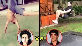 Video Akshay Kumar's Son Vs Shahrukh Khan's Son - Who's STUNT Is More AMAZING download MP3, 3GP, MP4, WEBM, AVI, FLV April 2018