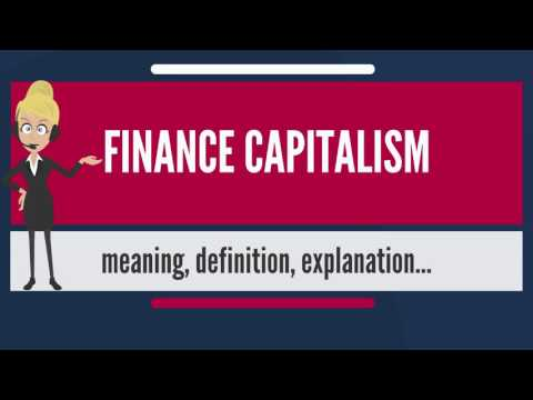 What is FINANCE CAPITALISM? What does FINANCE CAPITALISM mean? FINANCE CAPITALISM meaning