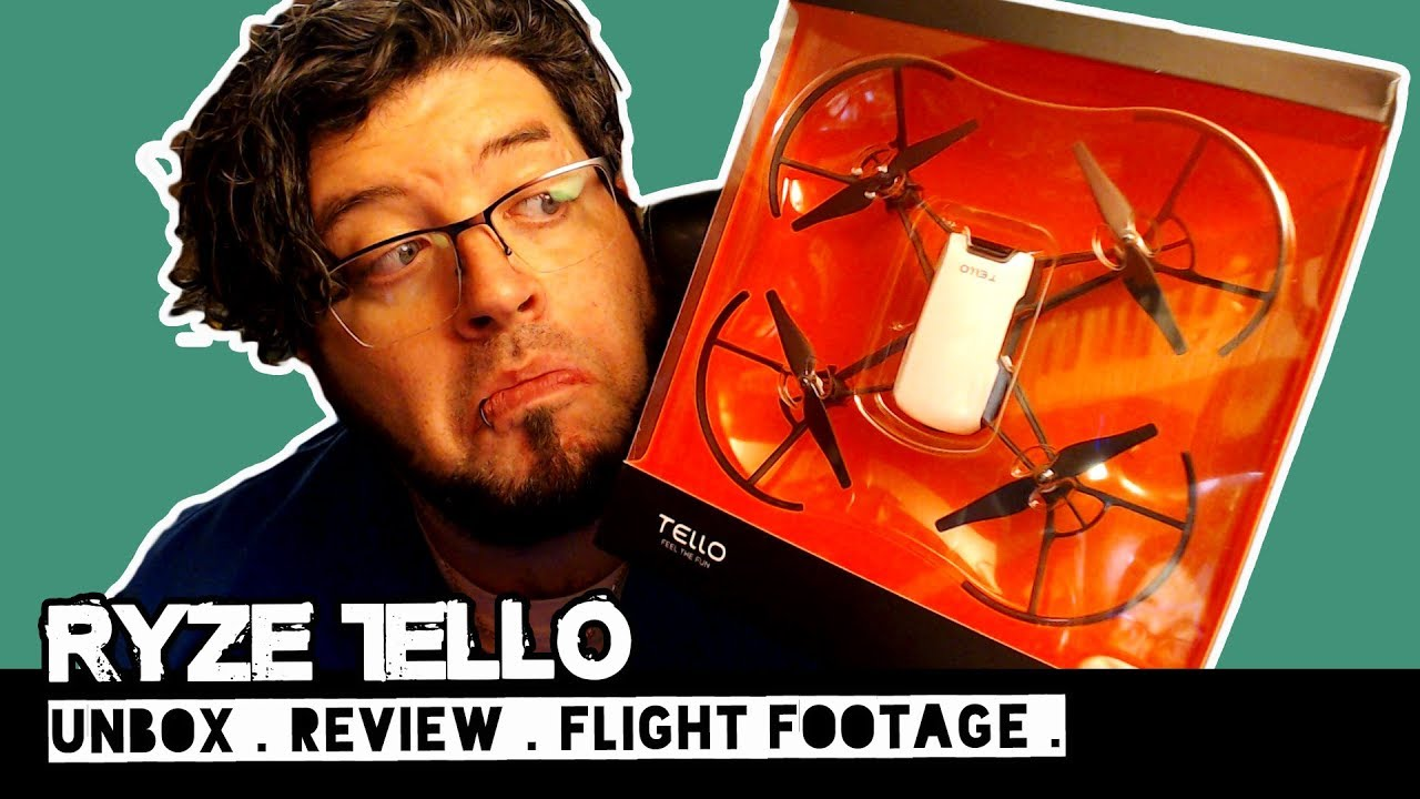 RYZE TELLO Drone Unboxing Review and Flight Footage