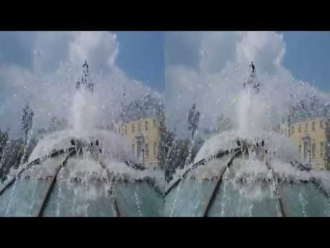 3D video Fountain in Moscow