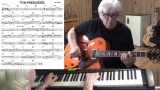 This Masquerade - jazz guitar & piano cover ( Leon Russell )