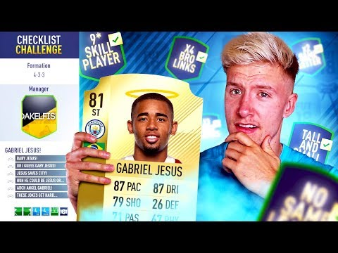 GABRIEL JESUS CHECKLIST CHALLENGE! 📋 - FIFA 18 Ultimate Team