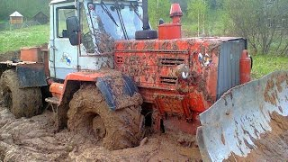 Тракторы на бездорожье—МТЗ-82  ХТЗ-150 Т-40 Прут по грязи и снегу Трактористы Tractors offroad NEW!