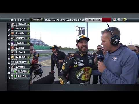 Truex on Kansas pole: 'It's the biggest one at this point in time'