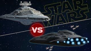 MC90 Mon Calamari Cruiser vs Allegiance Star Destroyer | Star Wars: Who Would Win