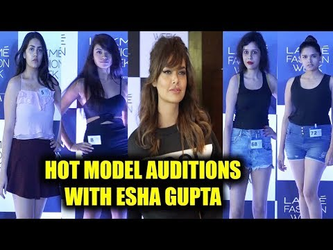 Esha Gupta Judges Lakme Fashion Week Audition|Uncut|