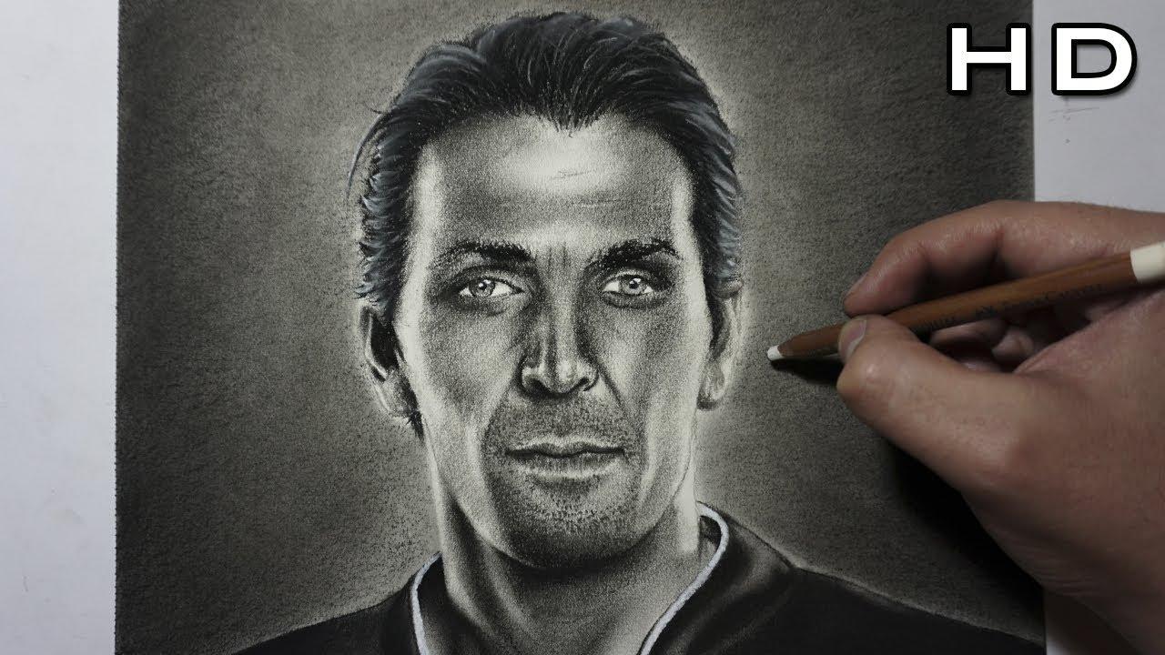 Descargar Dibujos De Alexis Sanches: Dibujo Realista De Gianluigi Buffon Al Carboncillo