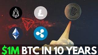 BTC Million Dollars in 10 years! Litecoin, Ethereum, Ripple XRP, EOS, Tron - Crypto News