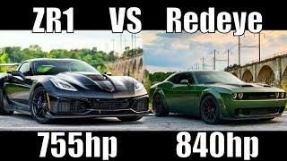 Corvette ZR1 Races My Hellcat Redeye (He Lied, NOT STOCK!)
