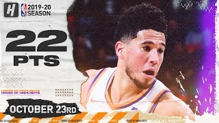 Devin Booker Full Highlights vs Kings (2019.10.23) - 22 Pts, 10 Ast!