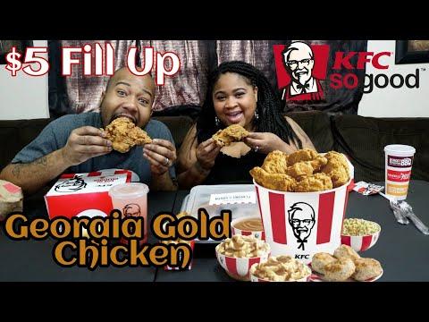 KFC Mukbang $5 fill up Georgia Gold (We Had a fun!)