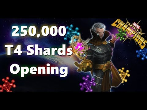 250000 T4 Shards opening BIGGEST EVER - Marvel Contest of Champions