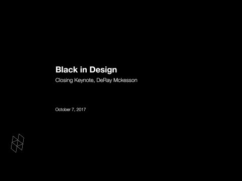 Black in Design: Closing Keynote, DeRay Mckesson
