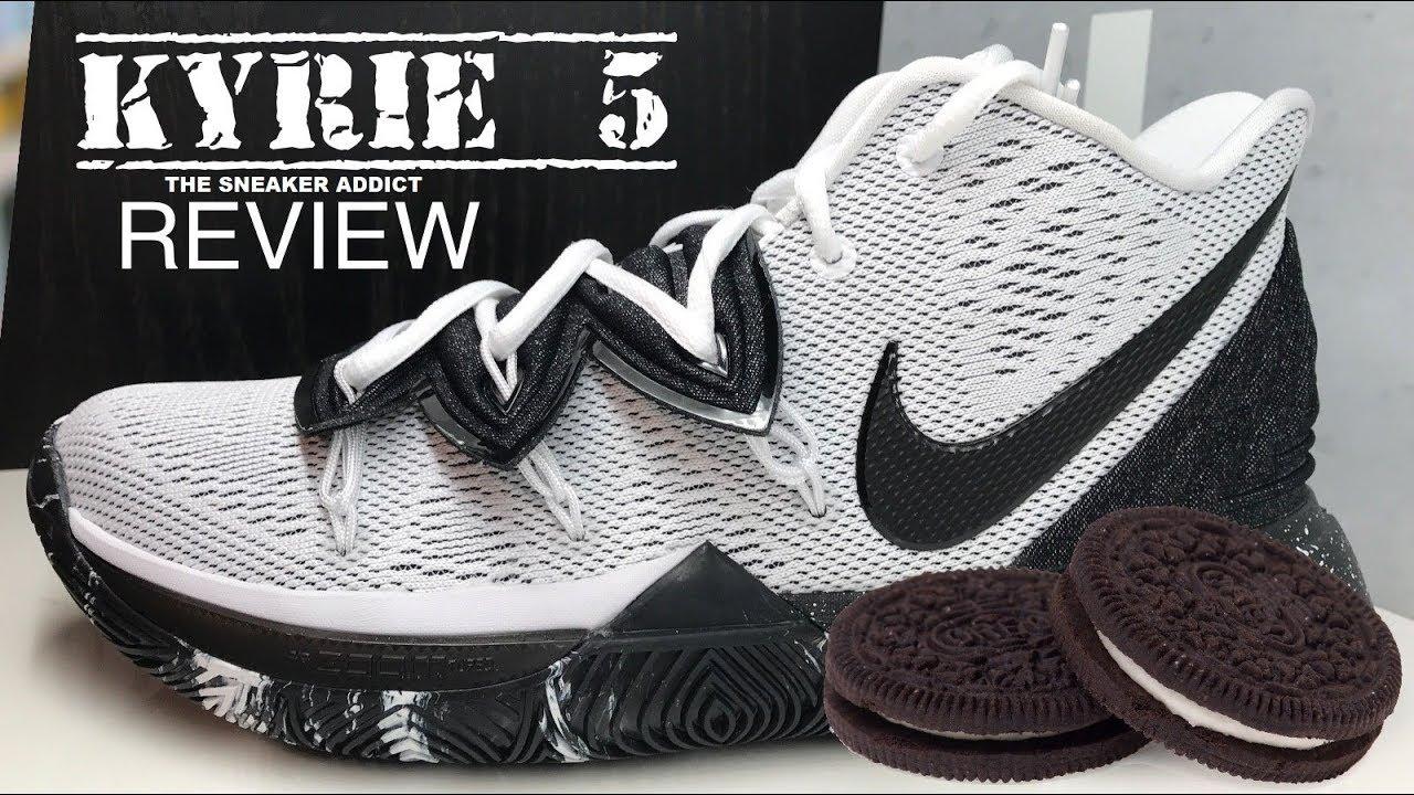 Nike Kyrie 5 Oreo Sneaker Detailed Look