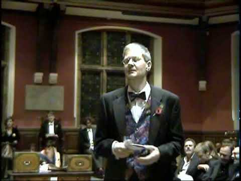 Charles Thomson, Stuckist, at the Oxford Union