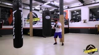 Работа на мешке. Обучение боксу в Rocky Road Gym